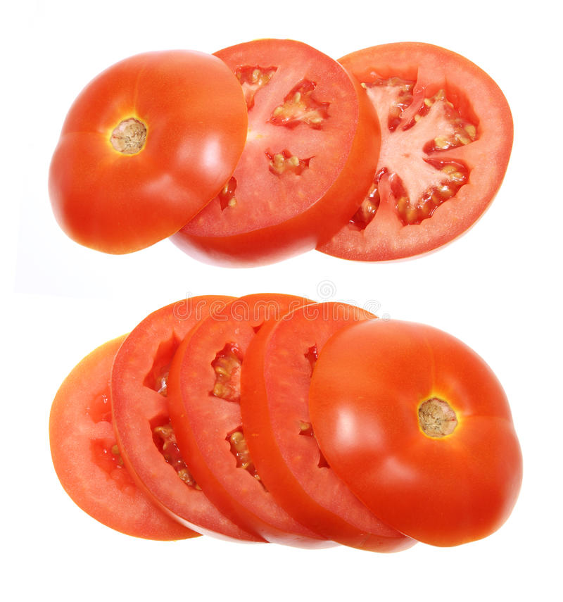 Scheiben der Tomate stockbild