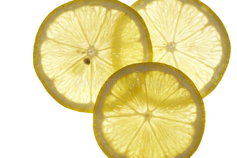 Scheiben der Zitrone stockfotografie