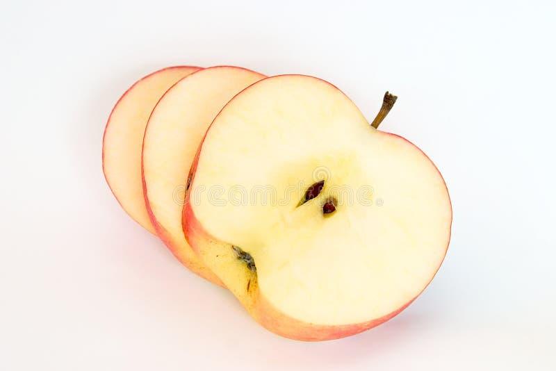Scheiben des Apfels lizenzfreie stockfotos