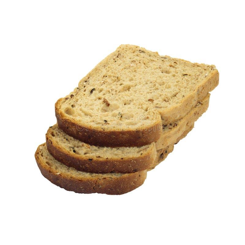 Scheiben des braunen Brotes. stockfotografie