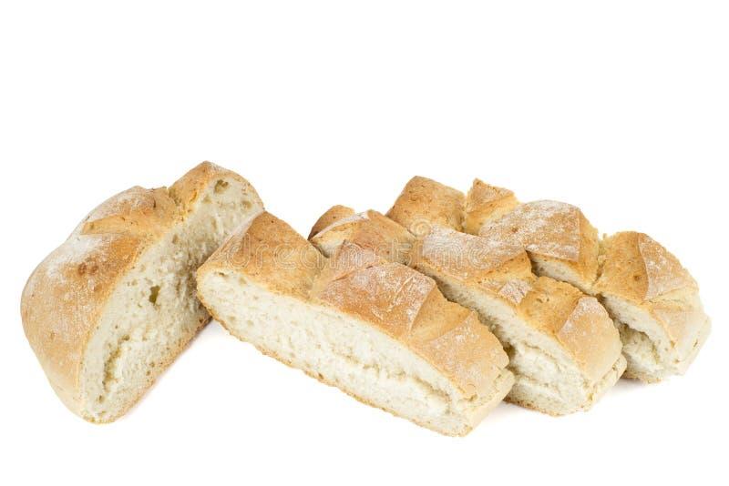 Scheiben des frischen Brotes stockbilder