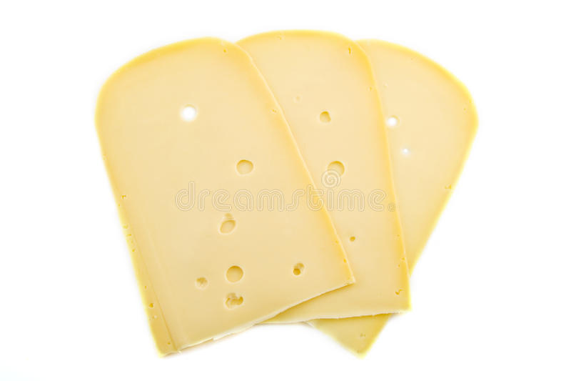 Scheiben des Käses stockfotos