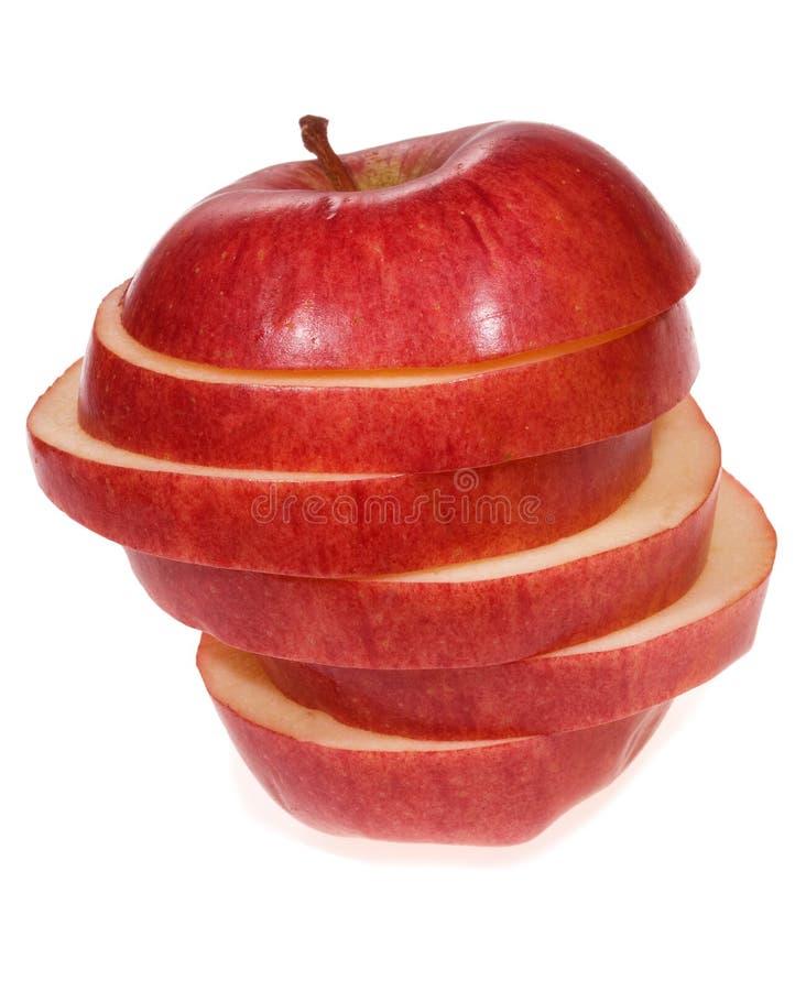 Scheiben eines Apfels lizenzfreie stockfotos