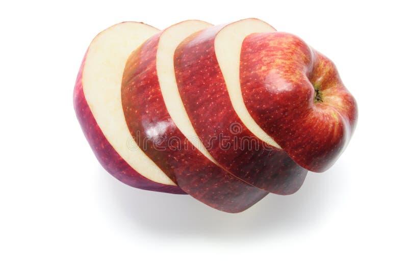 Scheiben von roter-Deliciousapple lizenzfreies stockfoto