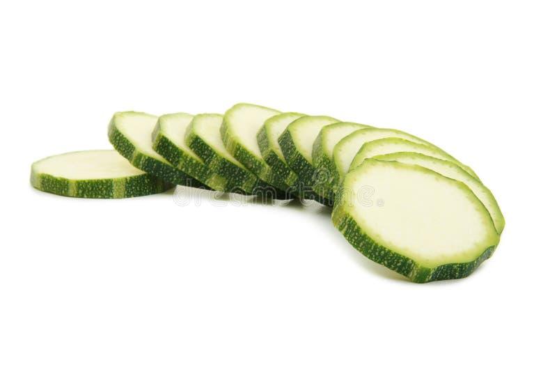 Scheiben von Zucchini lizenzfreie stockbilder
