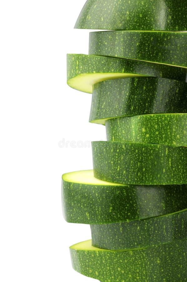 Scheiben von Zucchini lizenzfreies stockfoto