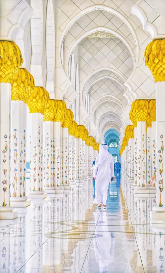 Scheich Zayed Grand Mosque stockfotografie