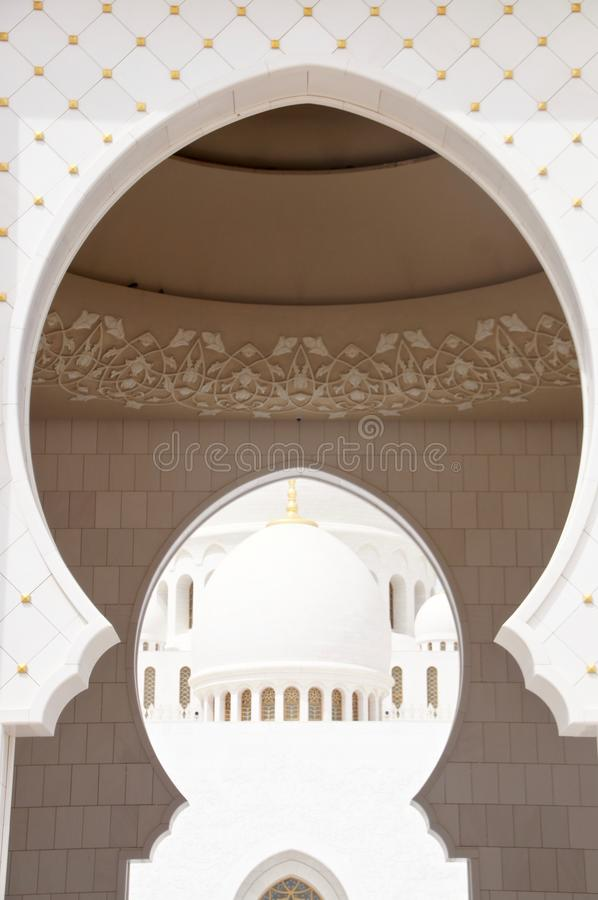 Scheich Zayed Grand Mosque, Abu Dhabi stockfotos