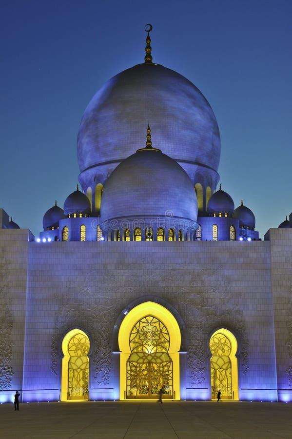 Scheich zayed Moschee UAE stockfotografie