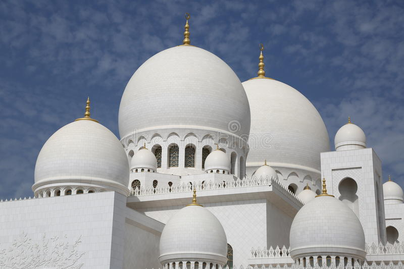 Scheich Zayed Mosque Abu Dhabi stockfotos