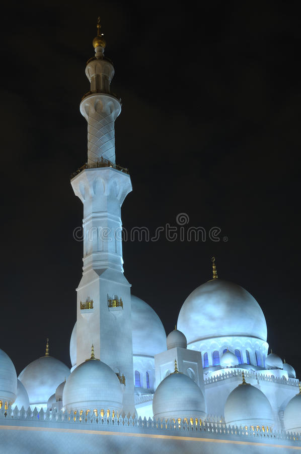 Pfosten Dhabi Dubai Am Scheich Zayed Mosque Stockfoto Bild Von