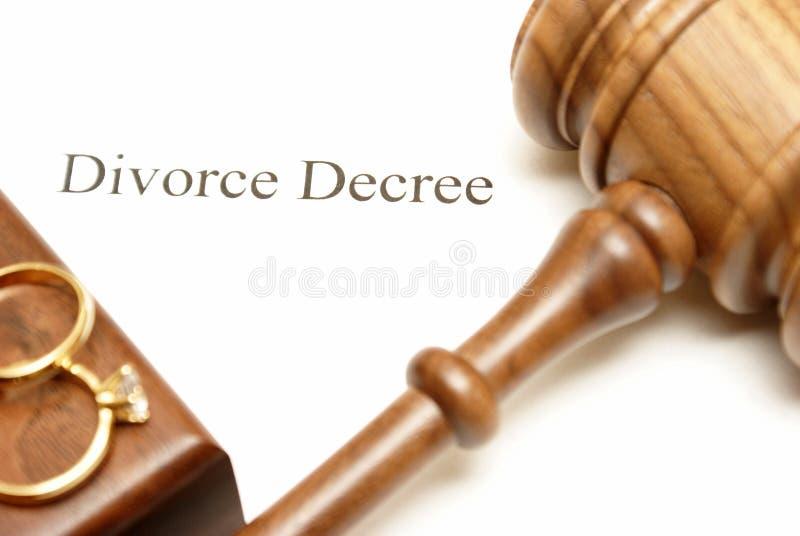 Scheidung-Papiere lizenzfreie stockbilder
