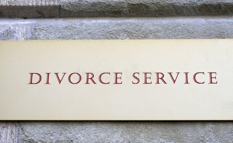 Scheidung-Service stockfotos