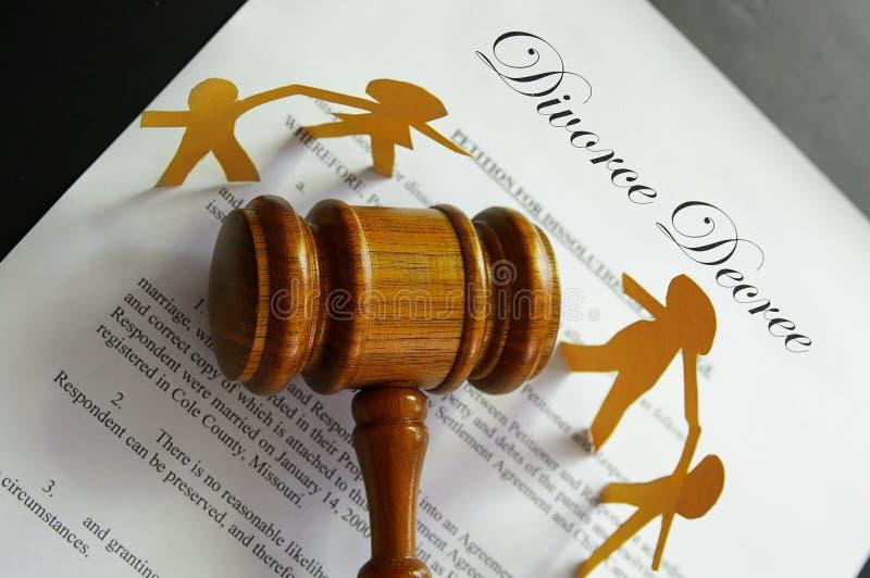 Scheidungspalte lizenzfreie stockfotografie