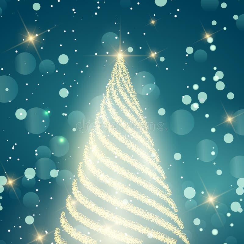 Schein-Weihnachtshintergrund stock abbildung