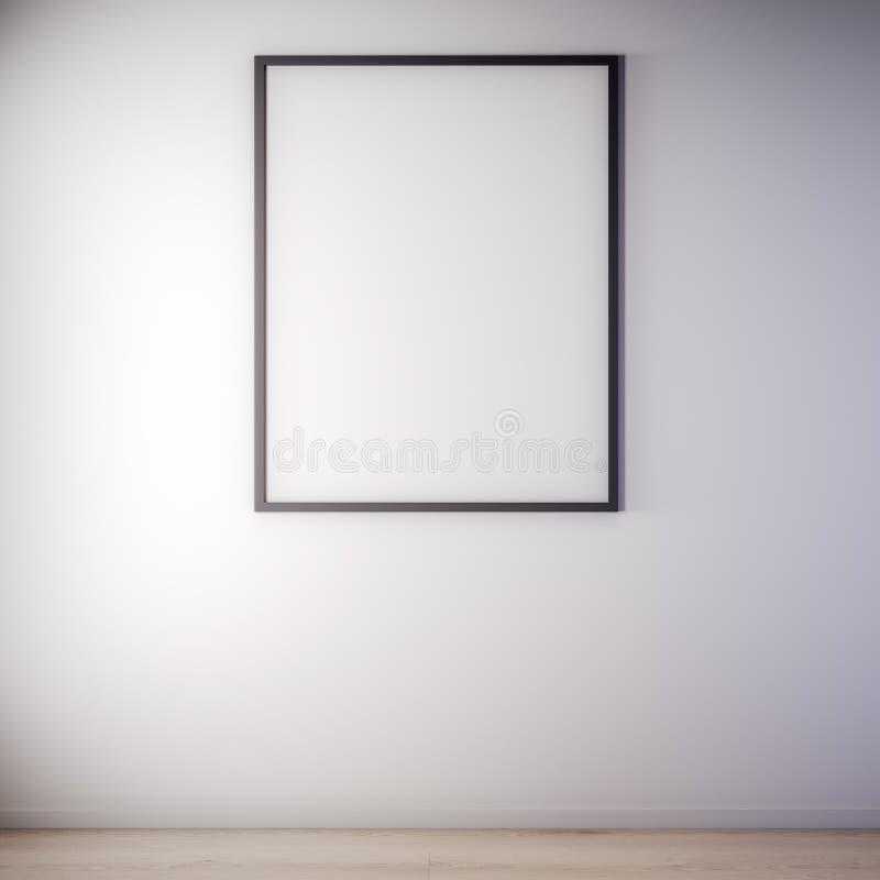 Scheinbarer hoher Plakatrahmen in der Innen-, modernen Art, Illustration 3D stockfotos
