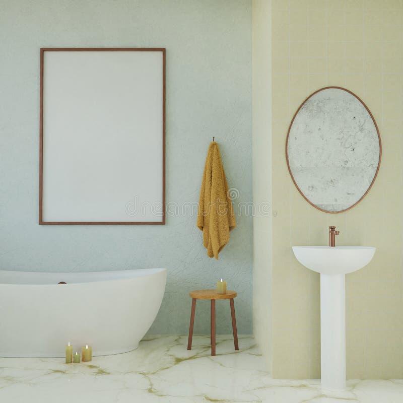 Scheinbares hohes Plakat im modernen Badezimmer vektor abbildung