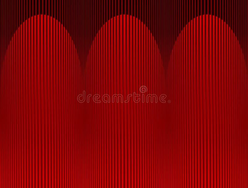 Scheinwerfer auf Hauptvorhang vektor abbildung
