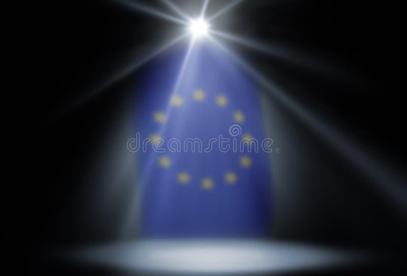 Scheinwerfereuropäische gemeinschaft stockbilder