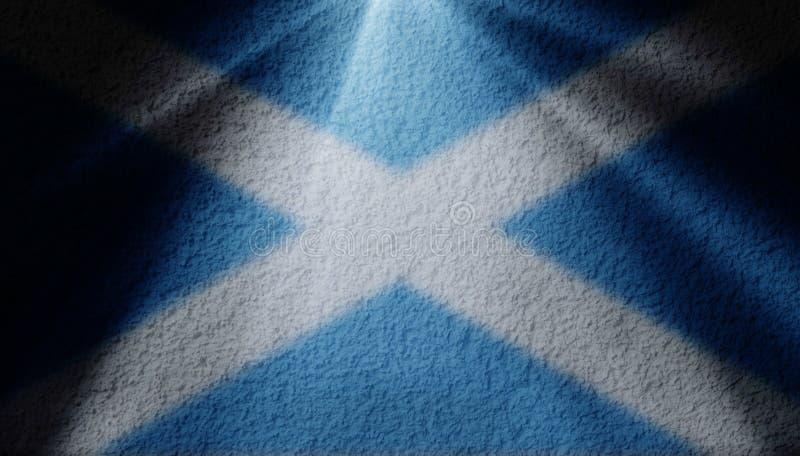 Scheinwerferlicht mit schottischer Flagge lizenzfreie stockfotos