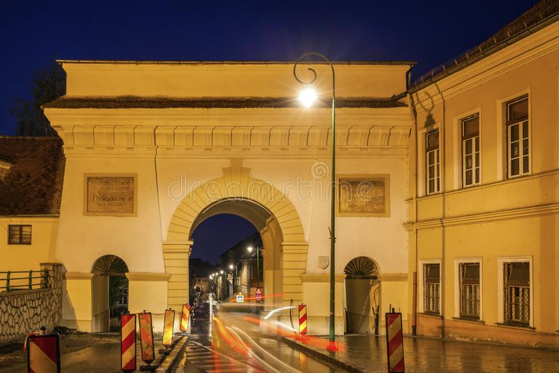Scheipoort in Brasov royalty-vrije stock afbeelding