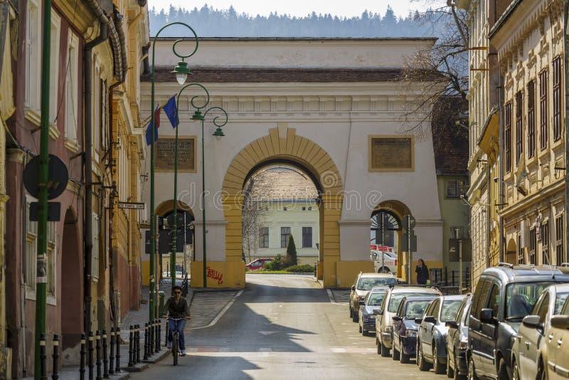 Scheipoort, Brasov, Roemenië stock fotografie