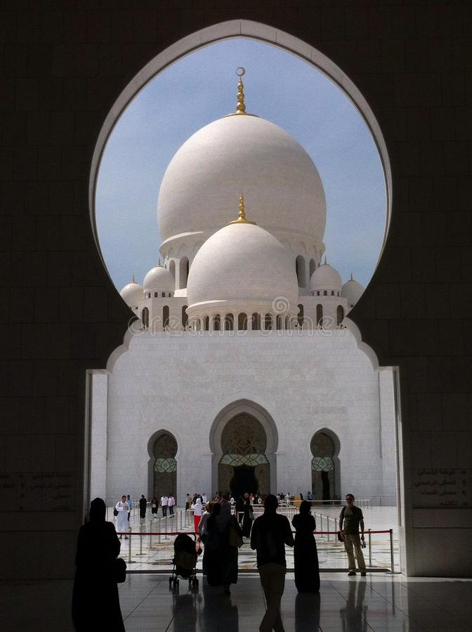 Schejk Al Zayed Mosque royaltyfria foton