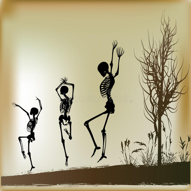 Scheletri di Dancing royalty illustrazione gratis
