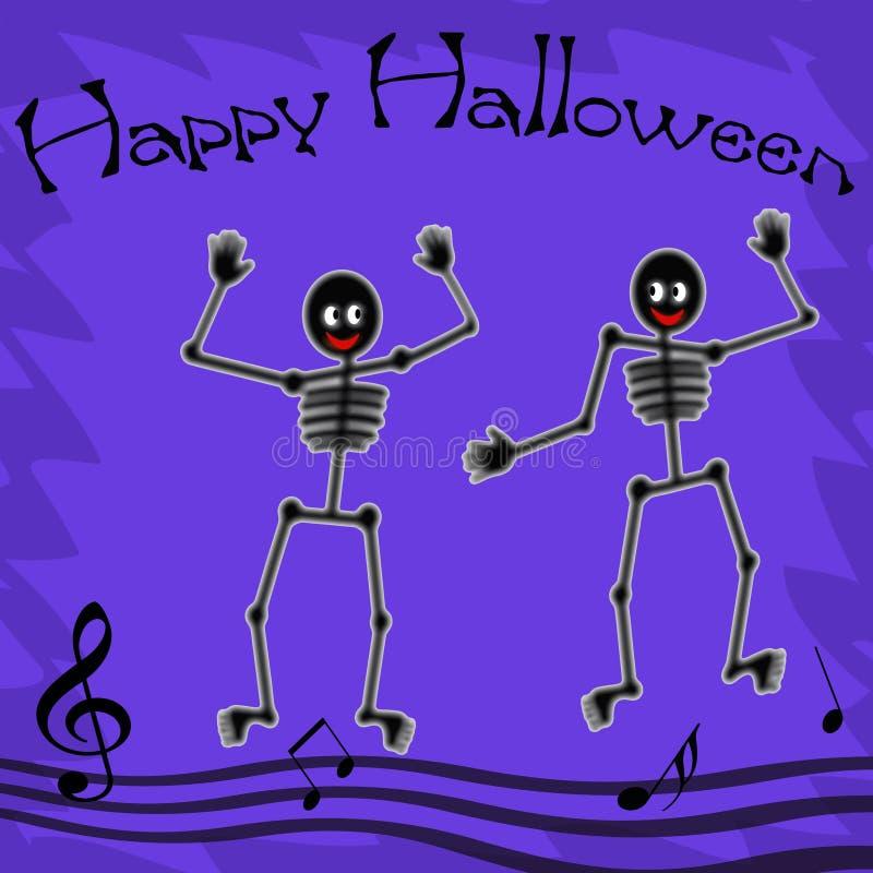 Scheletri felici di Halloween illustrazione vettoriale