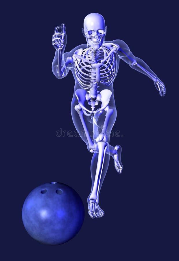 Scheletro dei raggi X - bowling illustrazione vettoriale