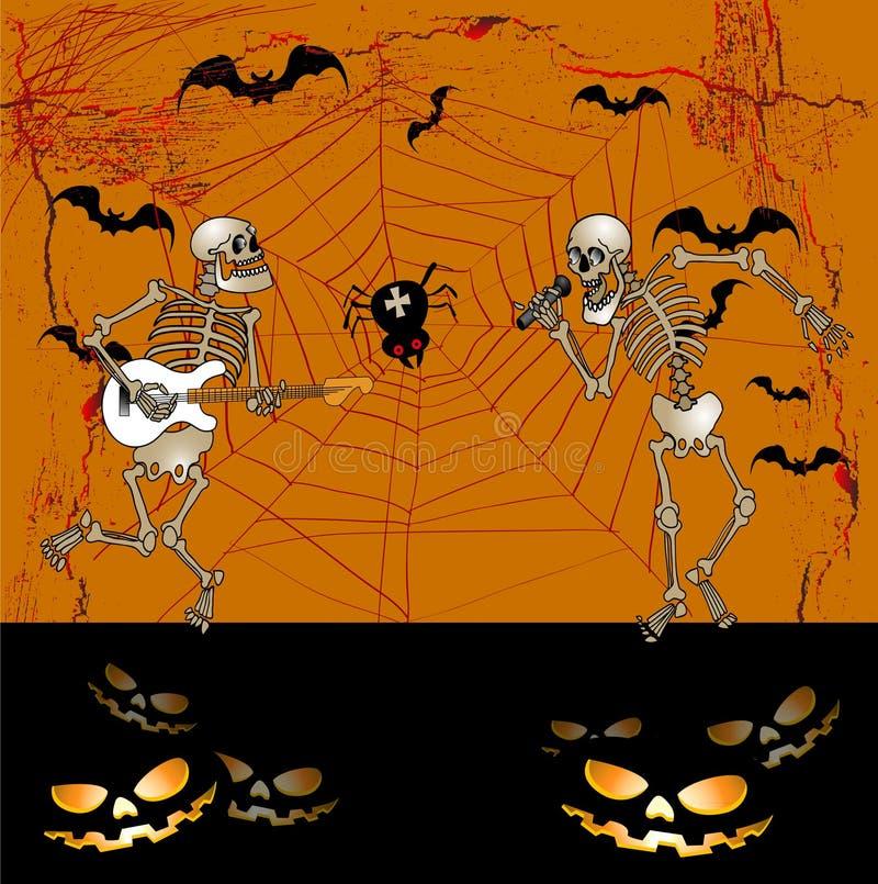 Scheletro di Halloween royalty illustrazione gratis