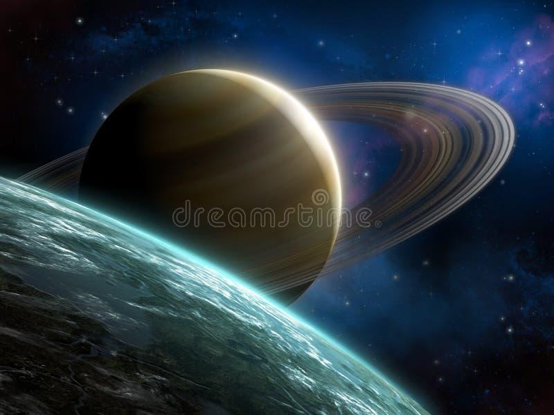 Schellen Sie Planeten lizenzfreie abbildung