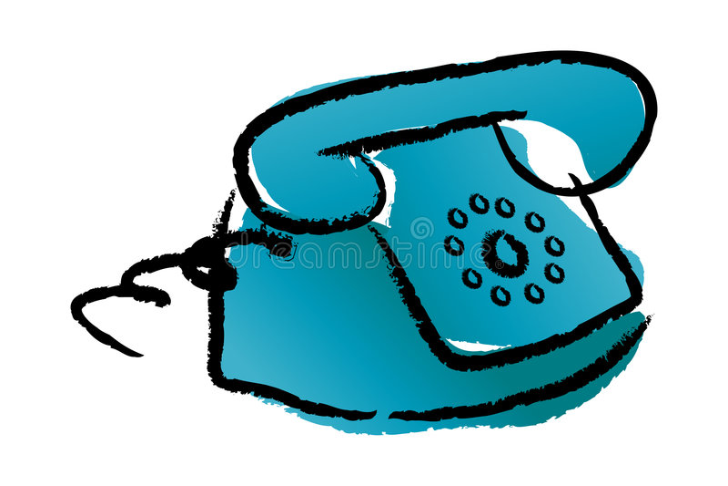 Schellentelefon lizenzfreie abbildung