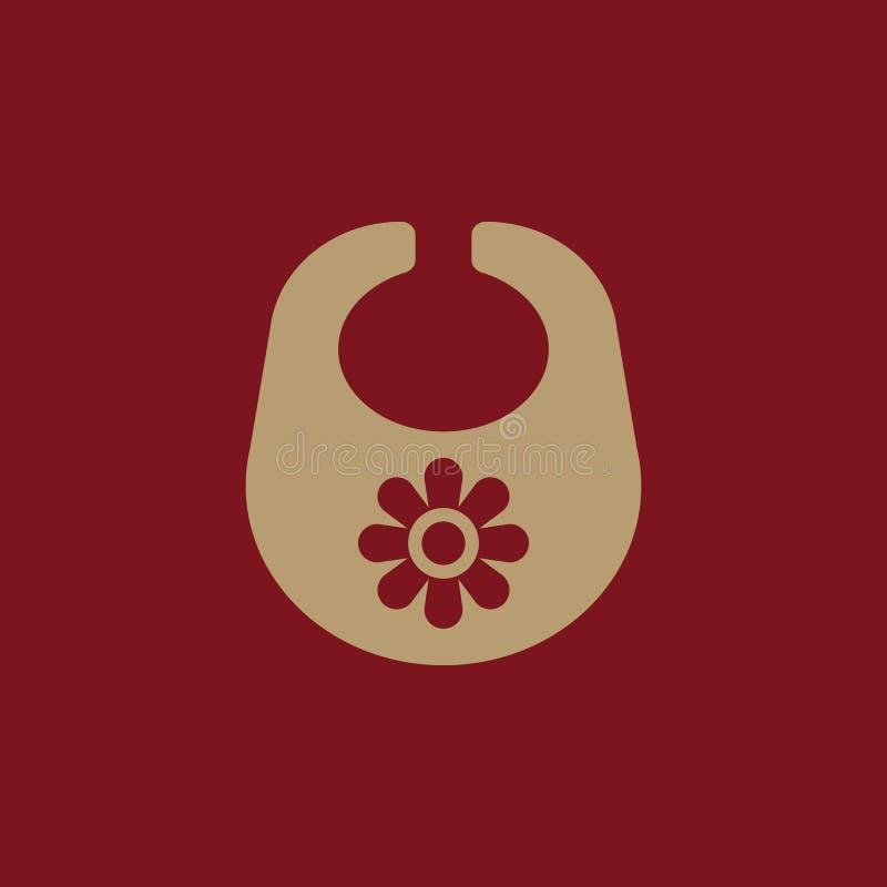 Schellfischikone Entwurf Brustplatte und Schutzblech, Schellfischsymbol web graphik ai app zeichen nachricht flach bild zeichen E stock abbildung