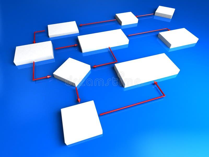 schema 3d illustrazione di stock