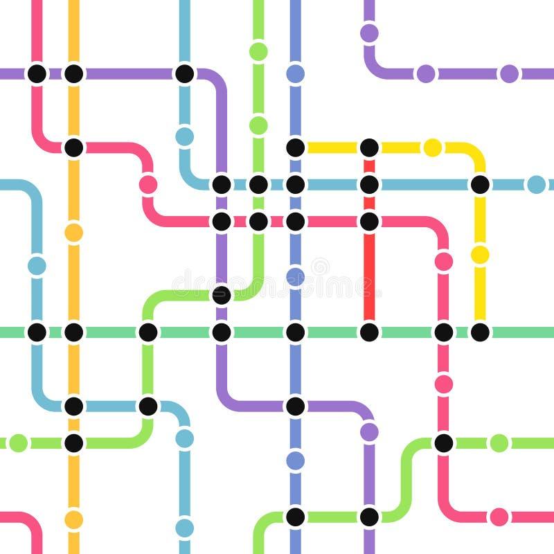 Schema astratto della metropolitana di colore royalty illustrazione gratis