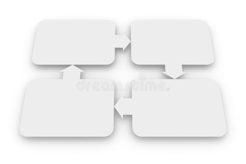 Schema in bianco dei rapporti illustrazione di stock