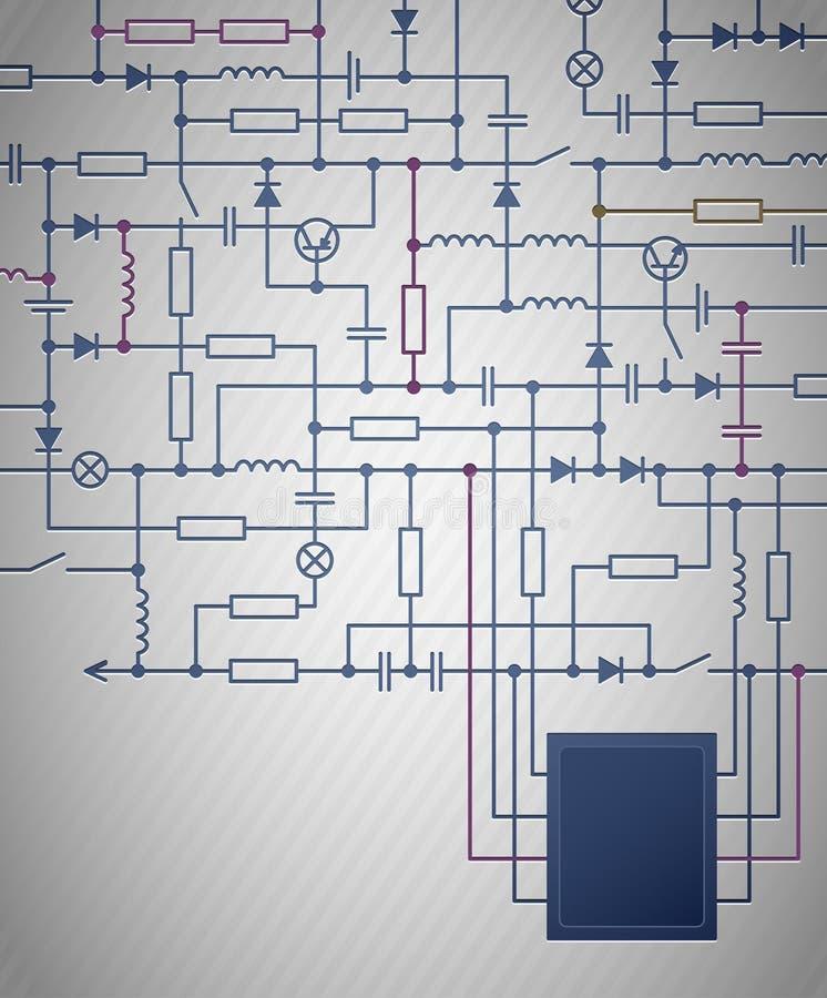 Schema circuitale illustrazione vettoriale