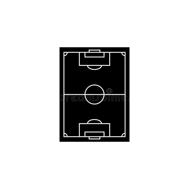 Schema del campo di football americano Campo di football americano royalty illustrazione gratis