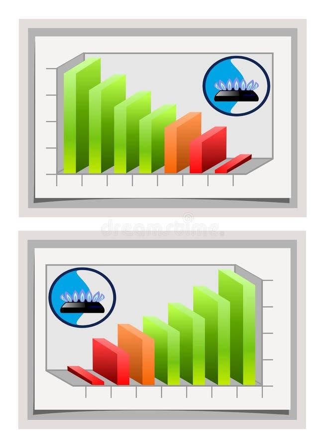 Schema del gas naturale illustrazione vettoriale