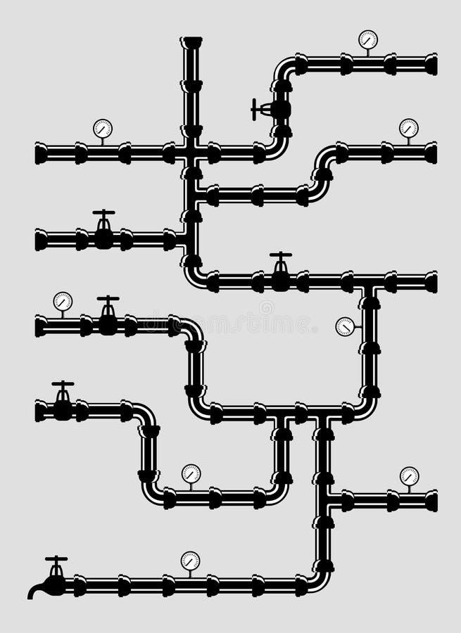 Schema del sistema a acqua Illustrazione del tor del  di VeÑ illustrazione di stock