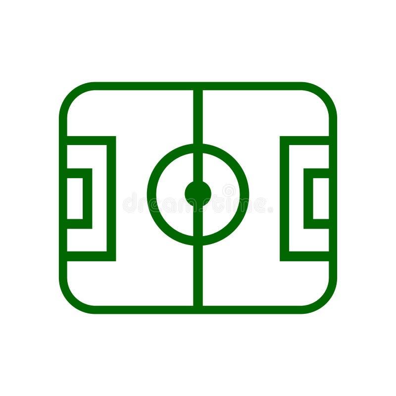 Schema dell'icona del campo di football americano - royalty illustrazione gratis