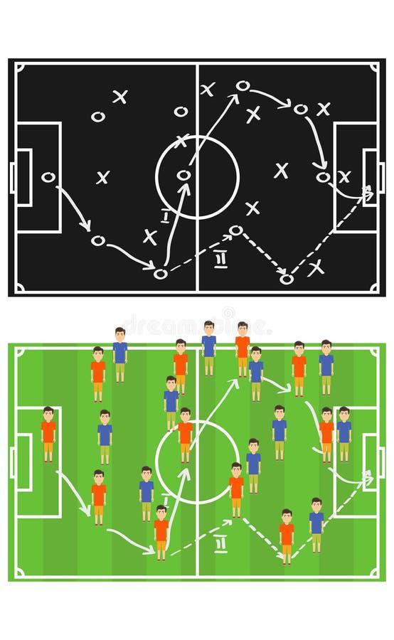 Schema della combinazione di calcio Schemi di giocar a calcioe royalty illustrazione gratis
