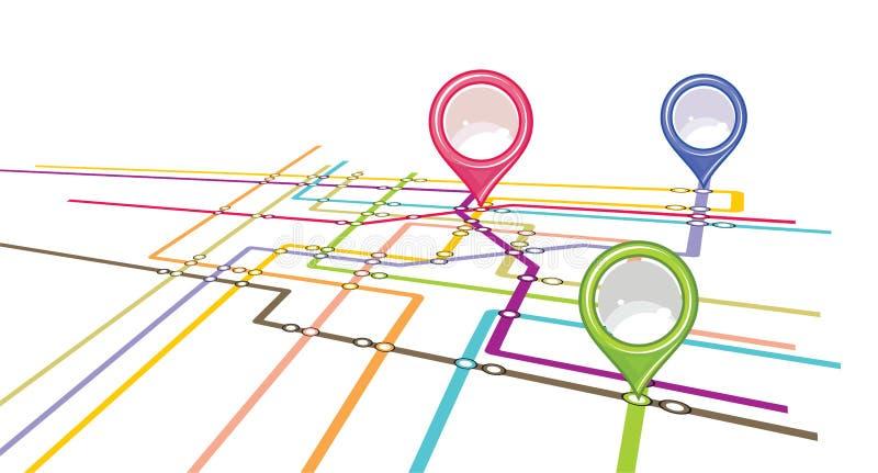 Schema della metropolitana - mappa del sottopassaggio illustrazione vettoriale