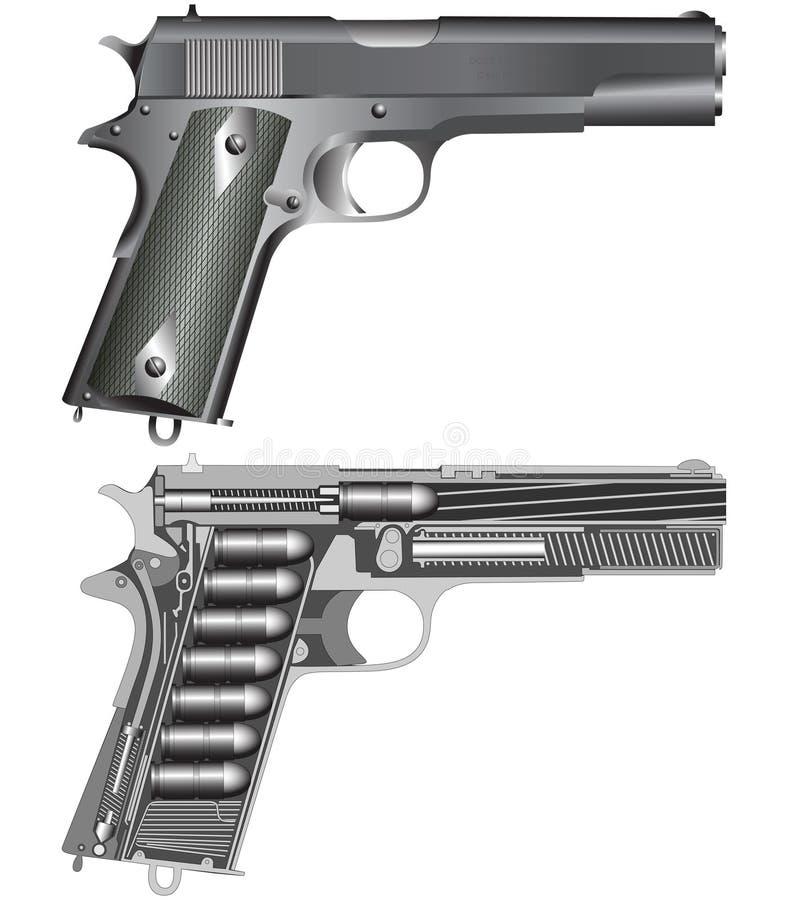 Schema della pistola royalty illustrazione gratis