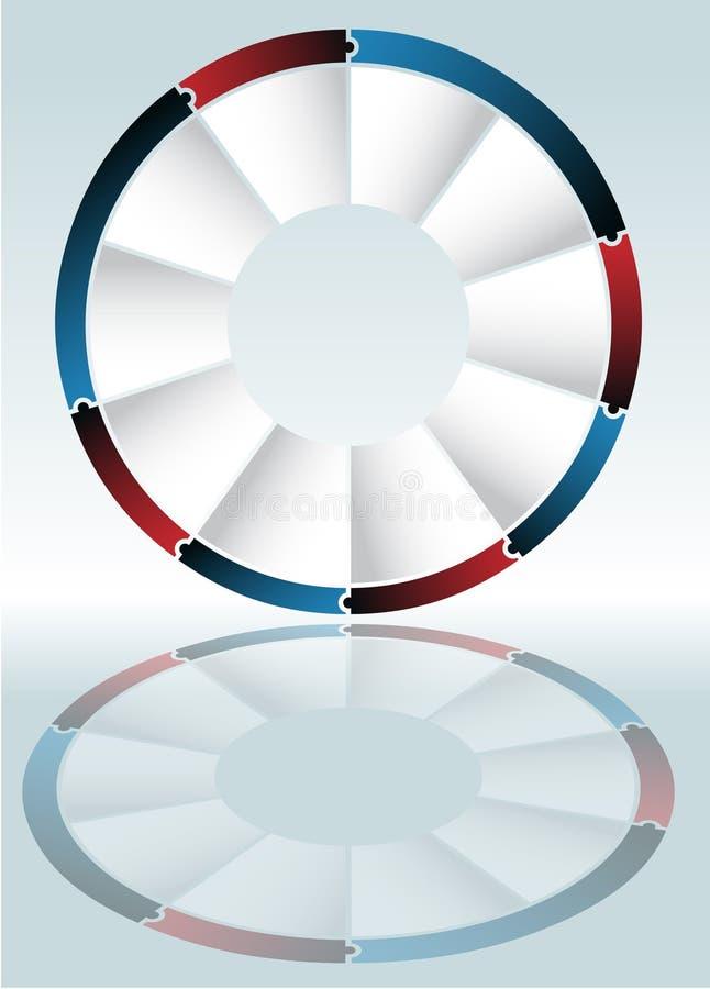 Schema della rotella di puzzle illustrazione di stock