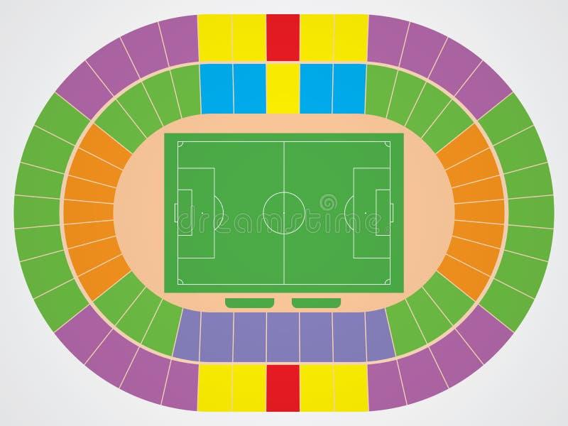 Schema dello stadio di calcio royalty illustrazione gratis