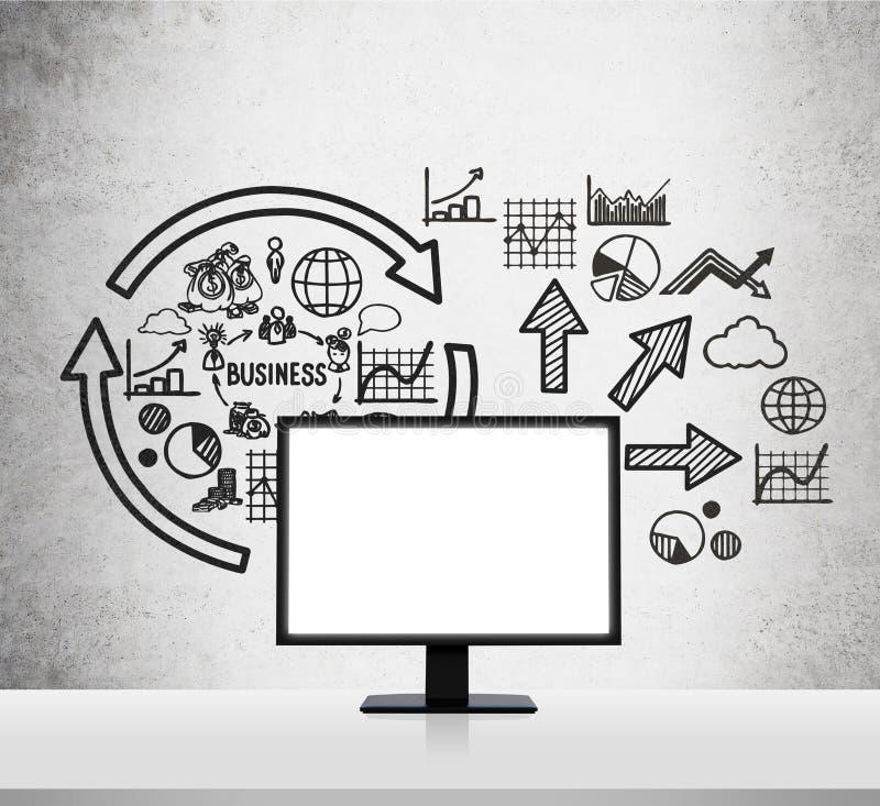 Schema di affari illustrazione di stock