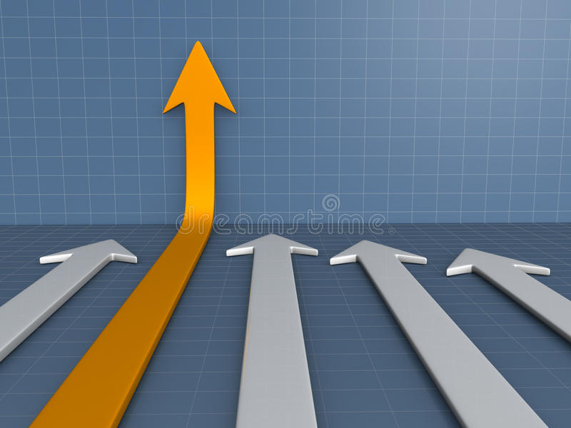 Schema di frecce illustrazione di stock