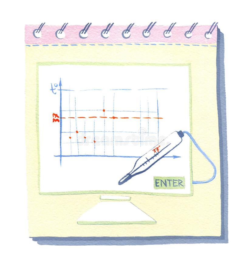 Schema di ontraception del ¡ di Ð, note per lo schema di contraccezione royalty illustrazione gratis